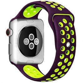 Sport Szíj Apple Watch 38/40mm Purple/Green Small