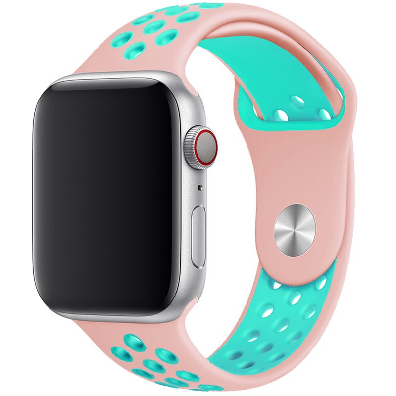 Sport Szíj Apple Watch 42/44mm Rose/Green Large