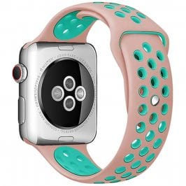 Sport Szíj Apple Watch 38/40mm Rose/Green Small