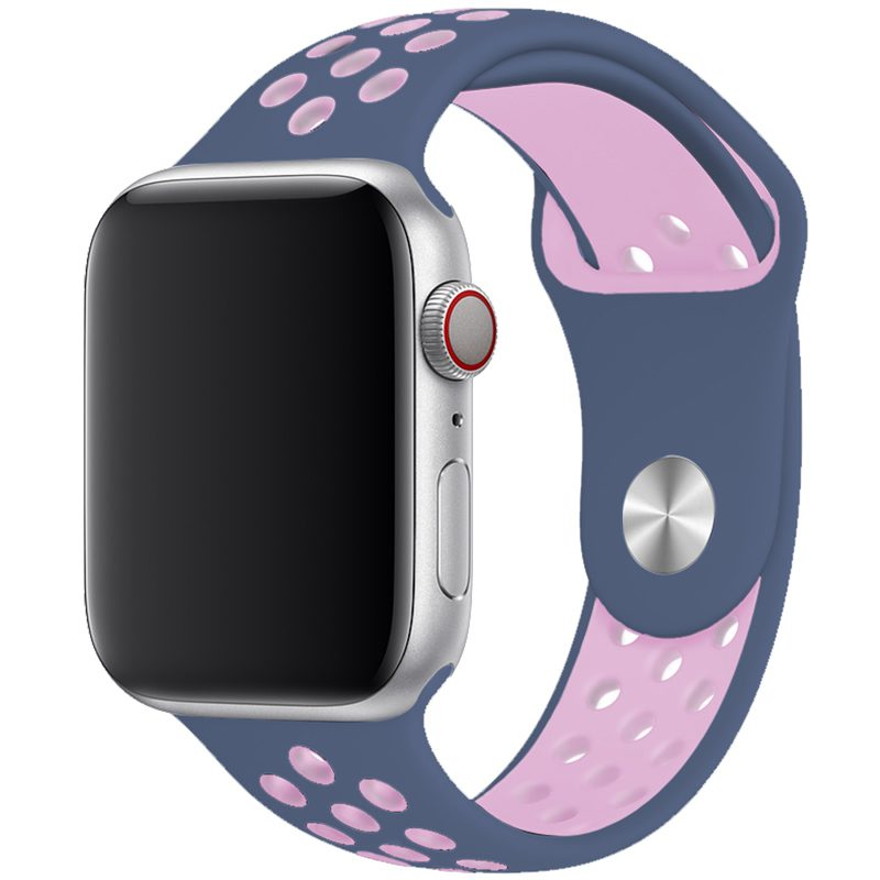 Sport Szíj Apple Watch 42/44mm Sea Blue/Light Pink Large