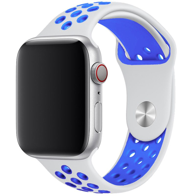 Sport Szíj Apple Watch 42/44mm White/Blue Large