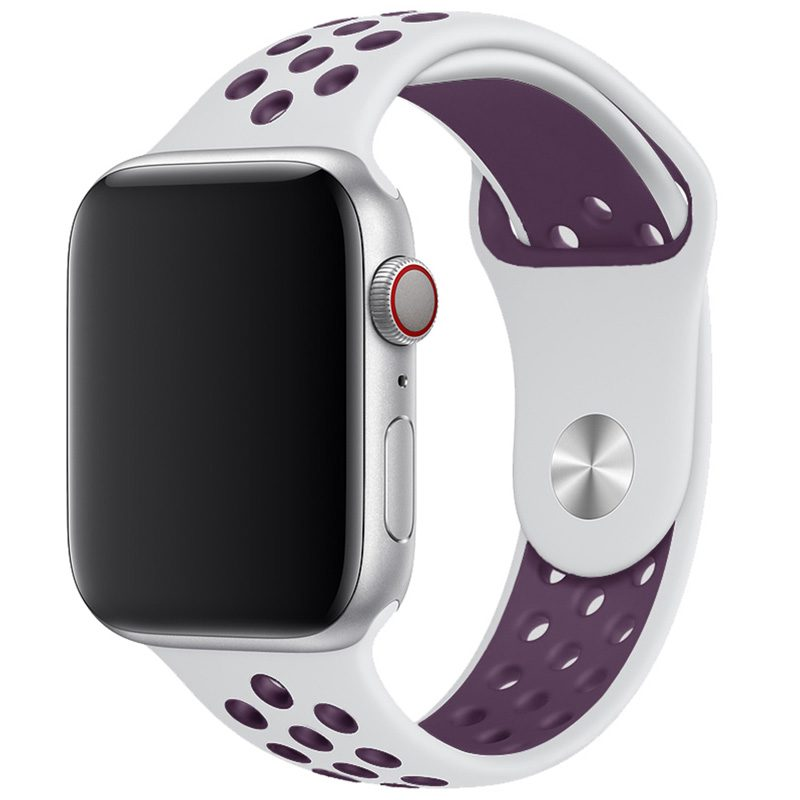 Sport Szíj Apple Watch 42/44mm White/Light Purple Large