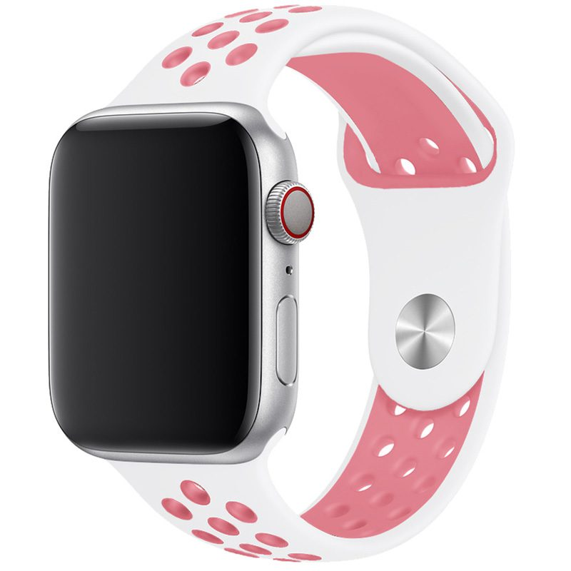 Sport Szíj Apple Watch 42/44mm White/Pink Large