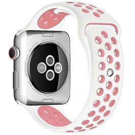 Sport Szíj Apple Watch 38/40mm White/Pink Small