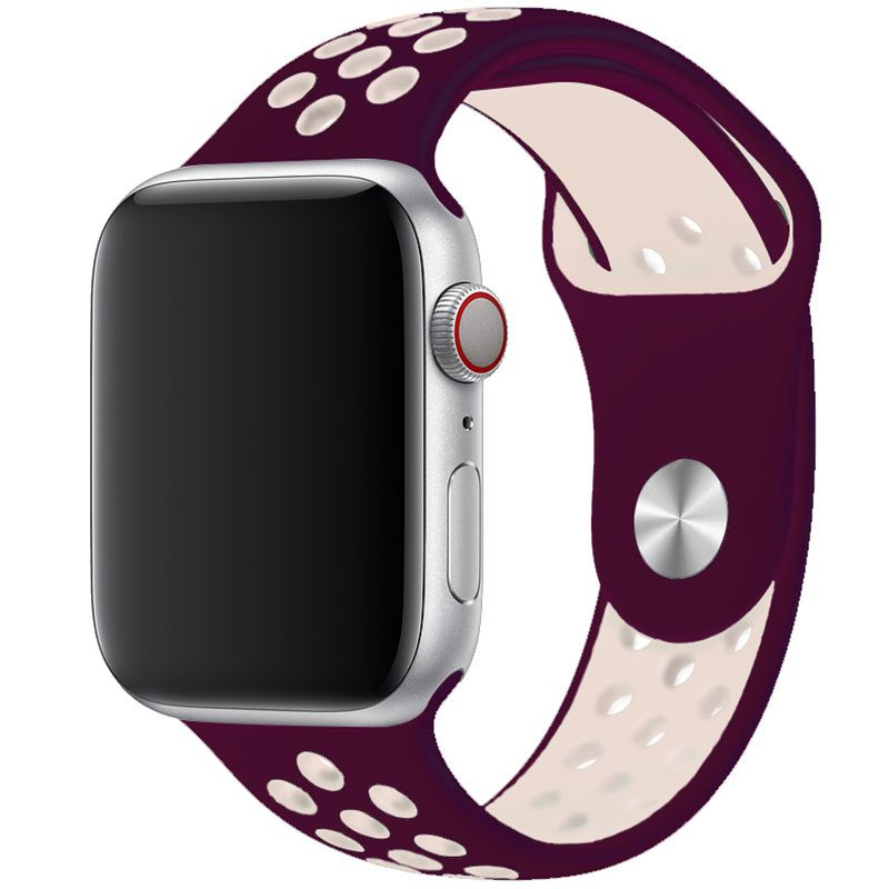 Sport Szíj Apple Watch 42/44mm Wine Red/Pink Large