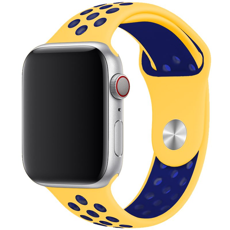 Sport Szíj Apple Watch 42/44mm Yellow/Midnight Blue Large