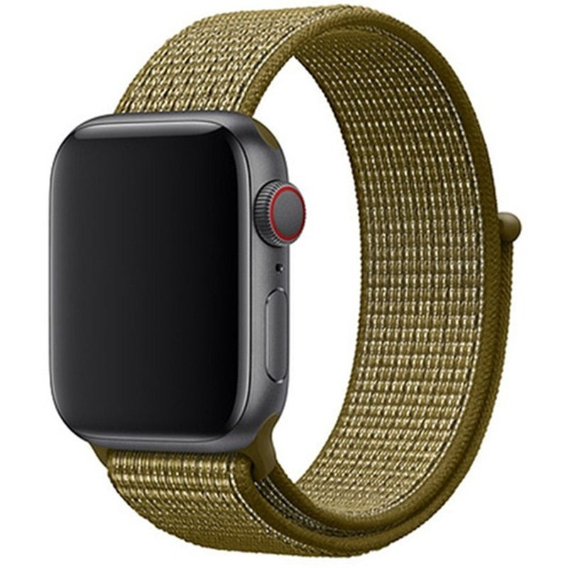 Nylon Szíj Apple Watch 42/44mm Olive Flak