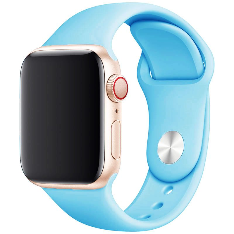 Silicone Szíj Apple Watch 42/44mm Light Blue Large