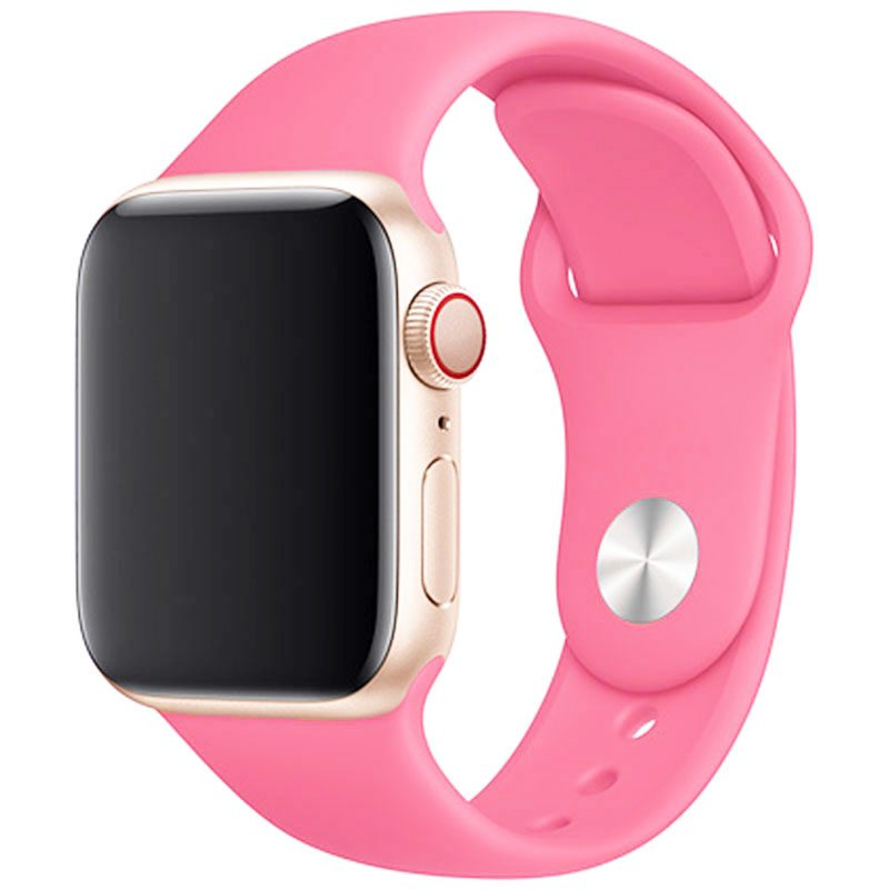 Silicone Szíj Apple Watch 42/44mm Light Pink Large