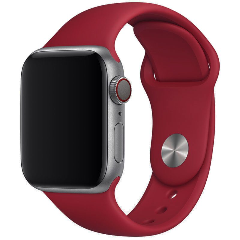 Silicone Szíj Apple Watch 42/44mm Rose Red Large