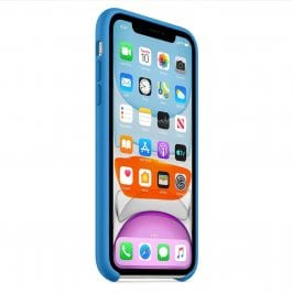 Apple Surf Blue Silicone iPhone 11 Tok