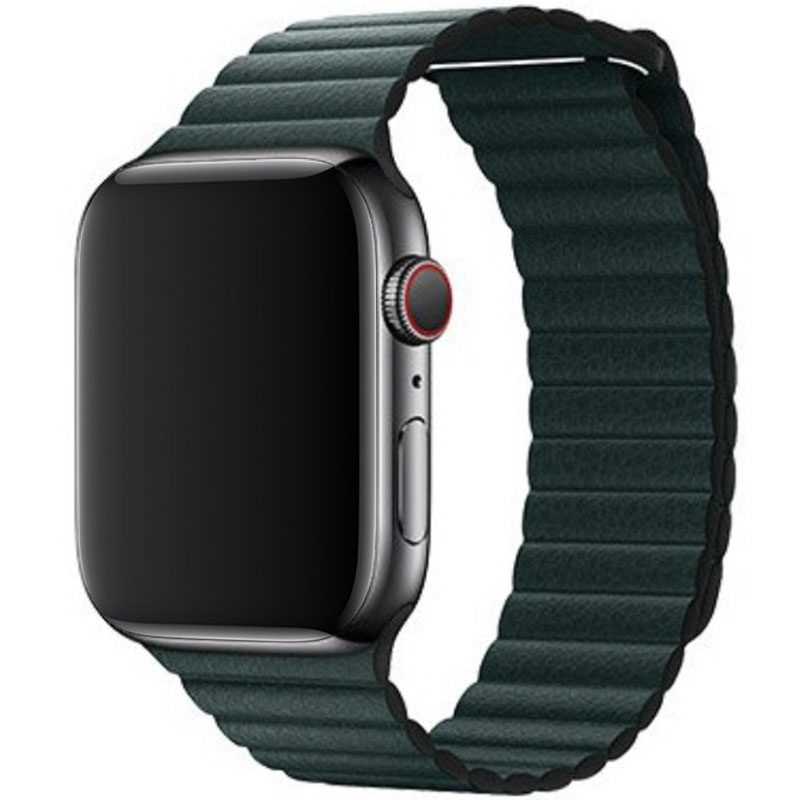 Leather Loop Szíj Apple Watch 42/44mm Forest Green