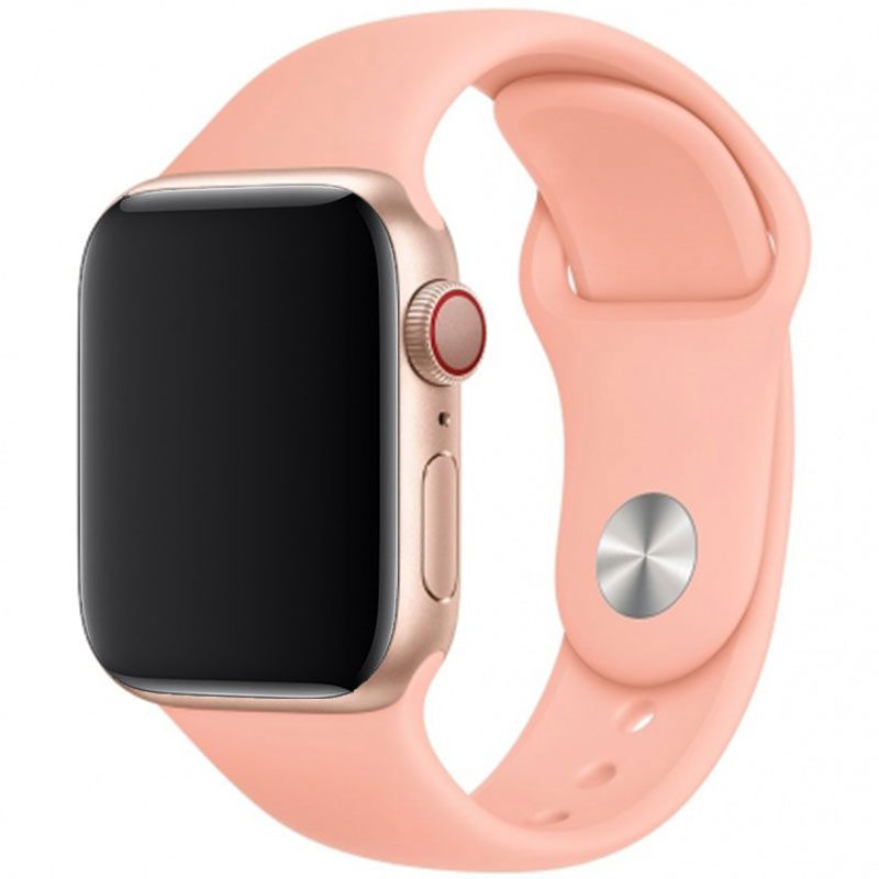 Silicone Szíj Apple Watch 42/44mm Grapefruit Small