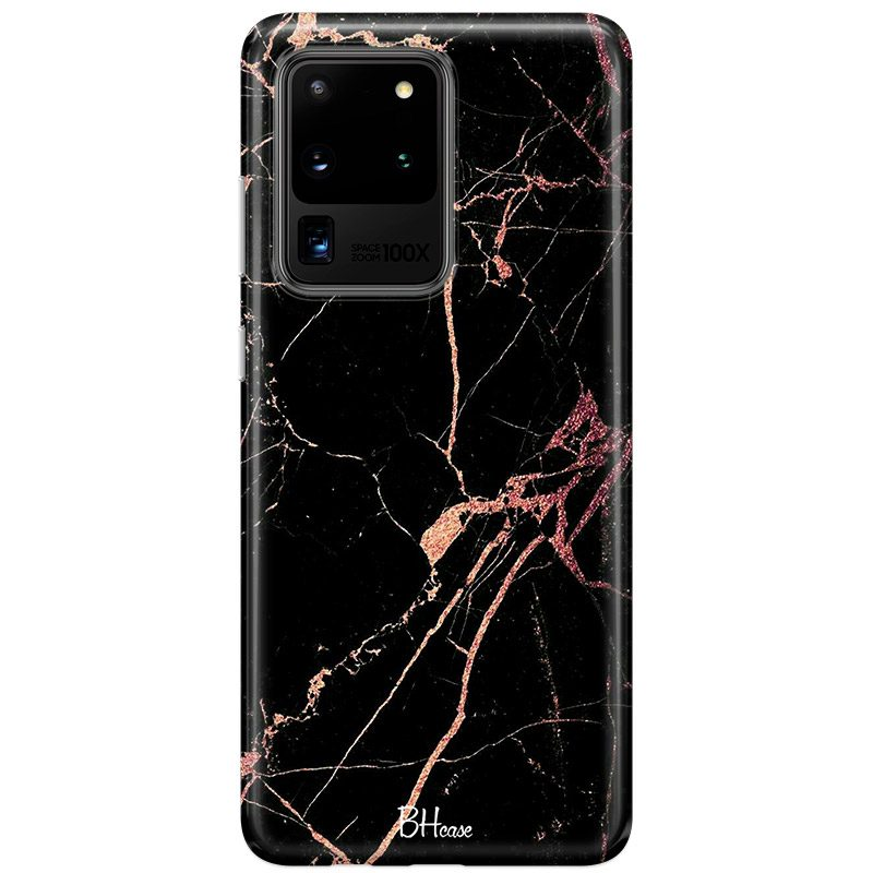 Black Rose Marble Samsung S20 Ultra Tok