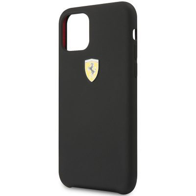 Ferrari SF Silicone Black iPhone 11 Tok