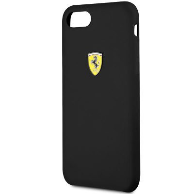 Ferrari SF Silicone Black iPhone 8/7/SE 2 2020 Tok