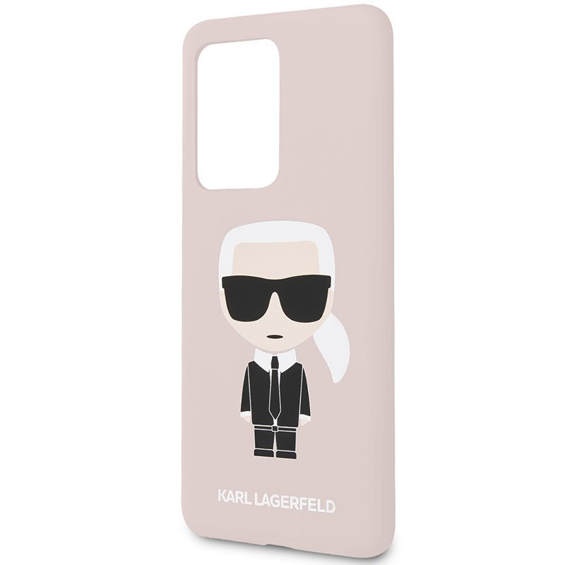 Karl Lagerfeld Iconic Full Body Silicone Pink Samsung S20 Ultra Tok