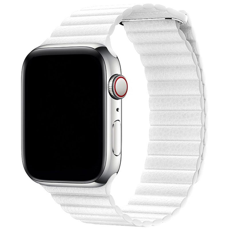 Leather Loop Szíj Apple Watch 42/44mm White
