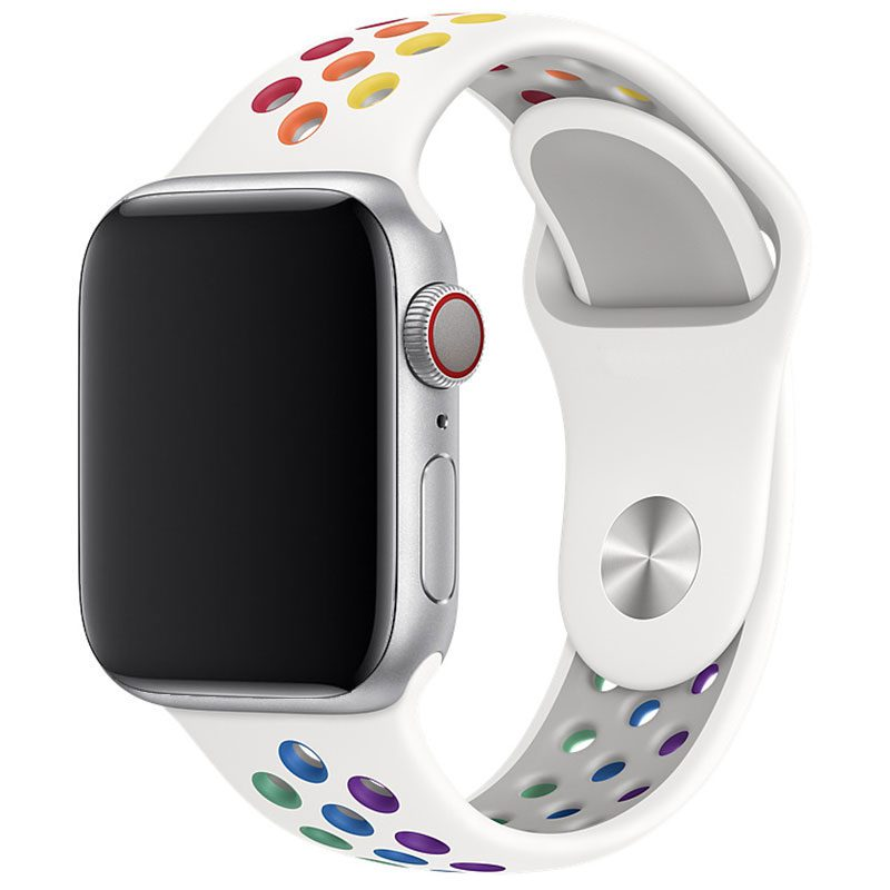 Sport Szíj Apple Watch 38/40mm White/Rainbow Small