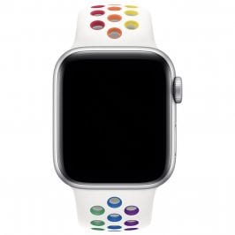 Sport Szíj Apple Watch 38/40mm White/Rainbow Large