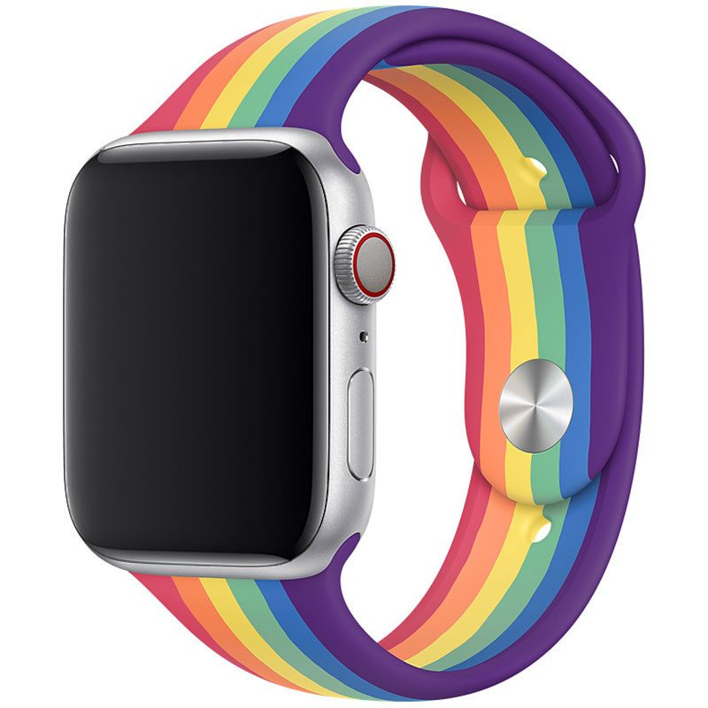 Silicone Szíj Apple Watch 42/44mm Rainbow Small