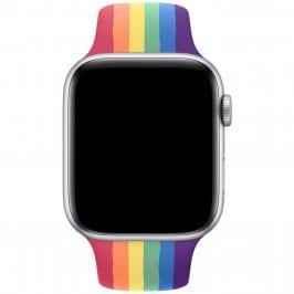 Silicone Szíj Apple Watch 38/40mm Rainbow Large