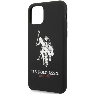 U.S. Polo Big Horse Silicone Black iPhone 11 Tok