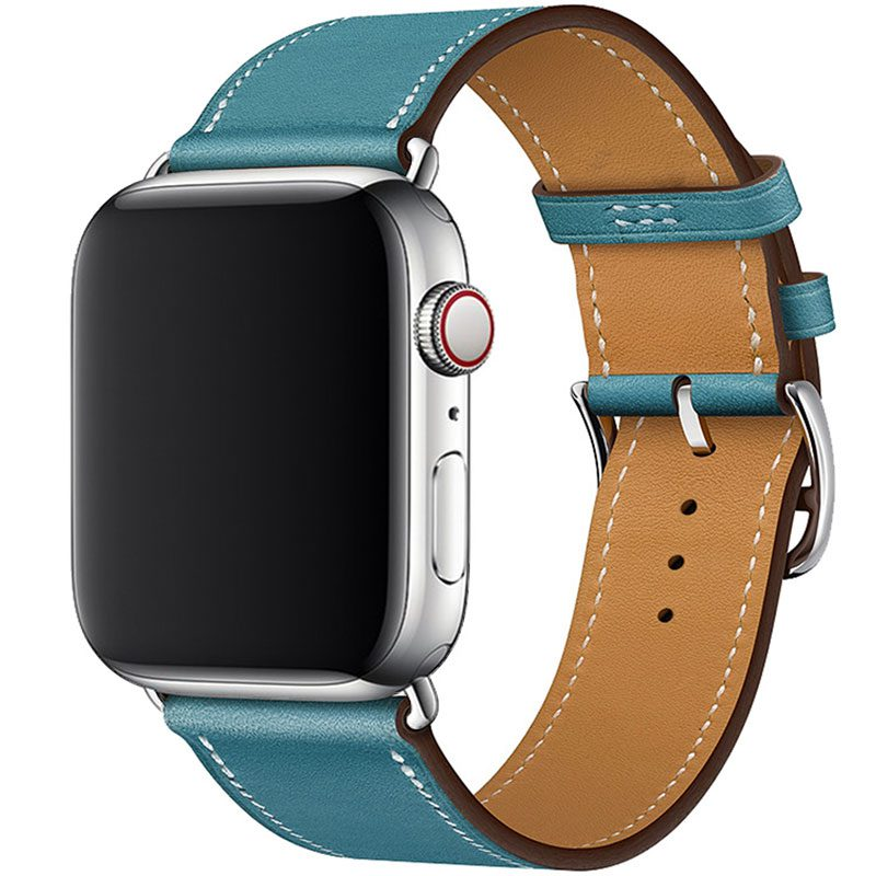 Leather Strap Apple Watch 42/44mm Sky Blue
