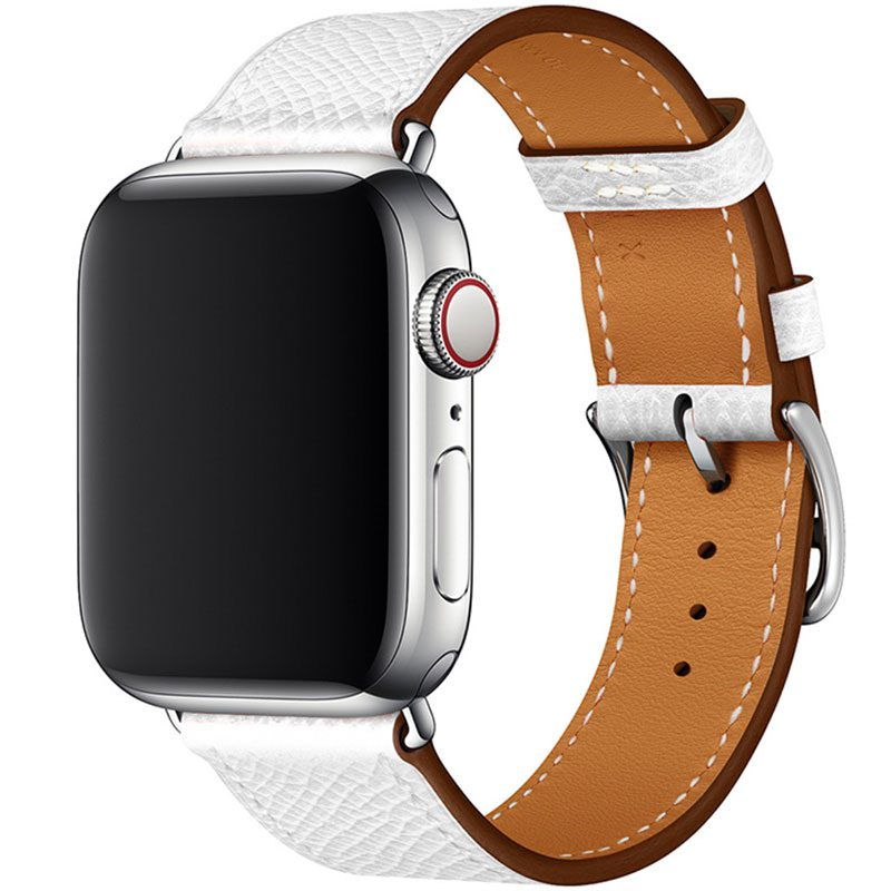 Leather Strap Apple Watch 42/44mm White