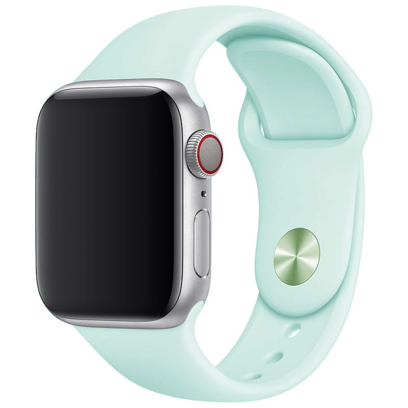 Silicone Szíj Apple Watch 42/44mm Seafoam Large