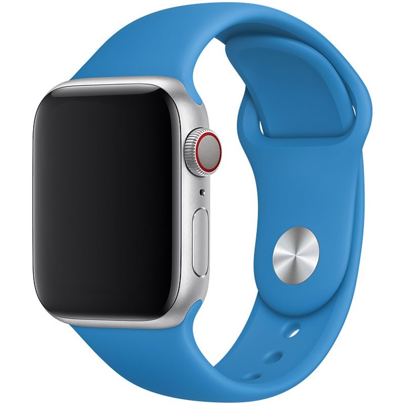 Silicone Szíj Apple Watch 42/44mm Surf Blue Large