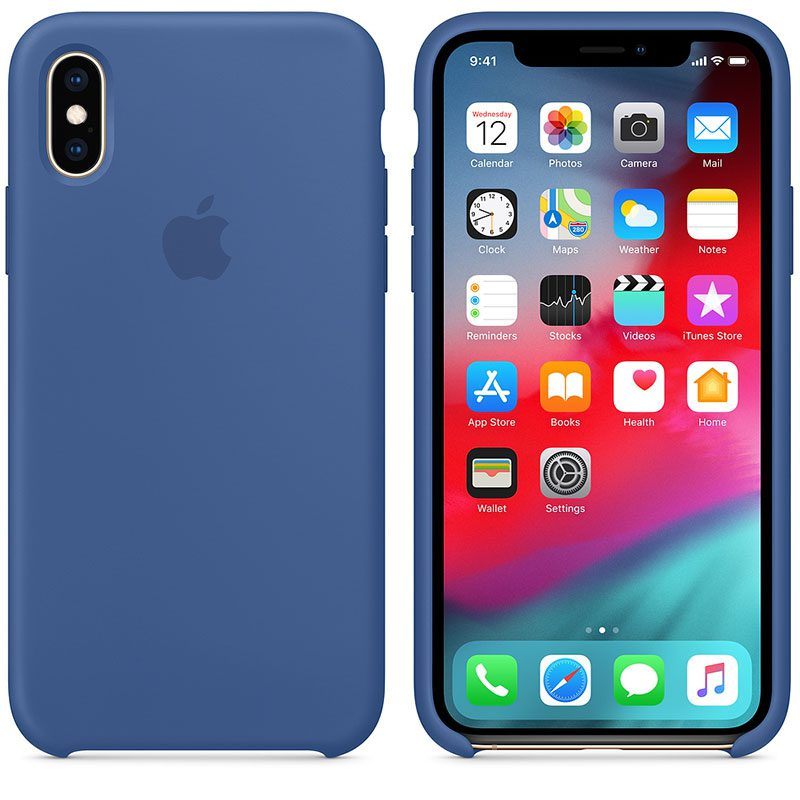 Apple Delft Blue Silicone iPhone XS Tok