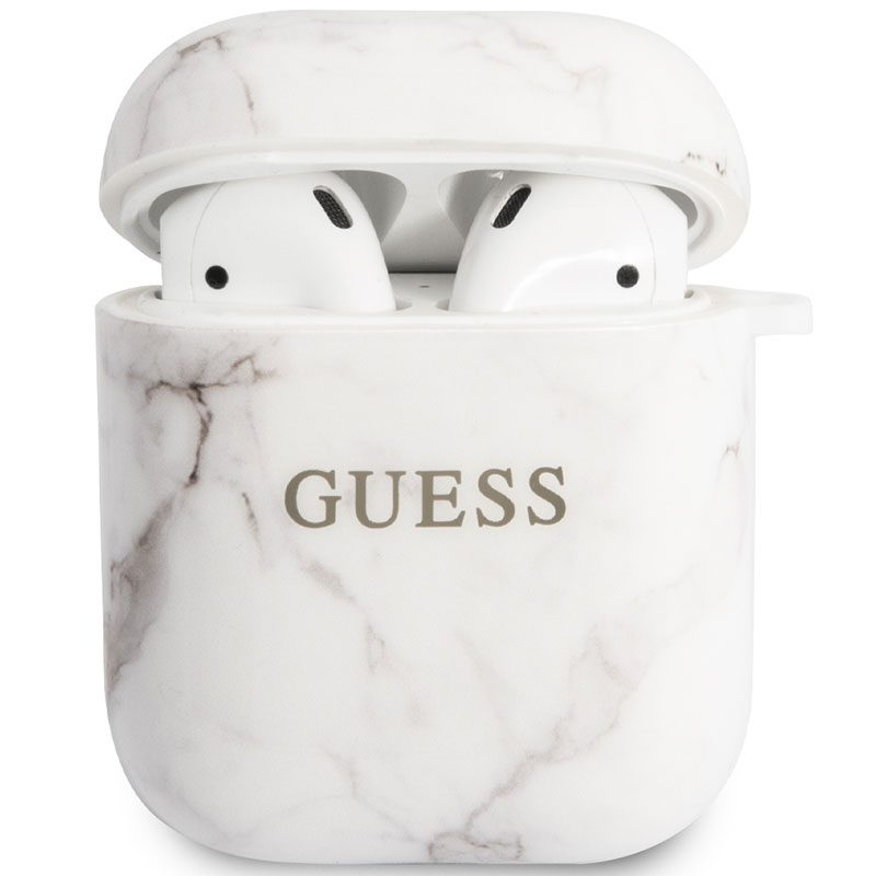 Guess AirPods TPU Case Marble White