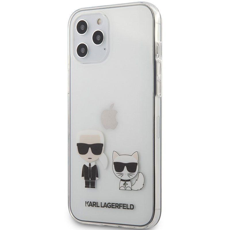Karl Lagerfeld Karl and Choupette TPU Transparent iPhone 12 Pro Max Tok