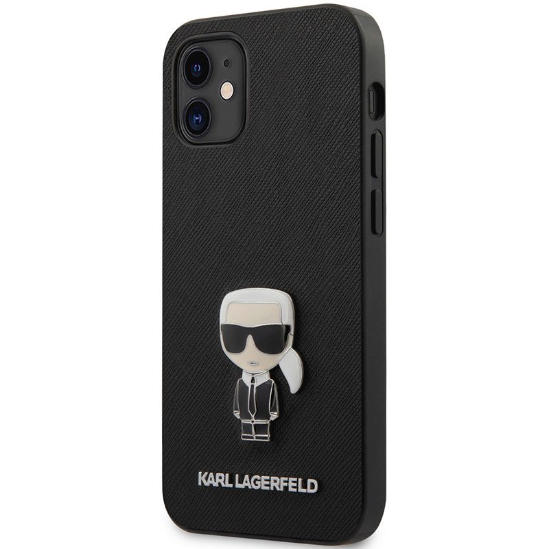 Karl Lagerfeld Saffiano Iconic Black iPhone 12 Mini Tok