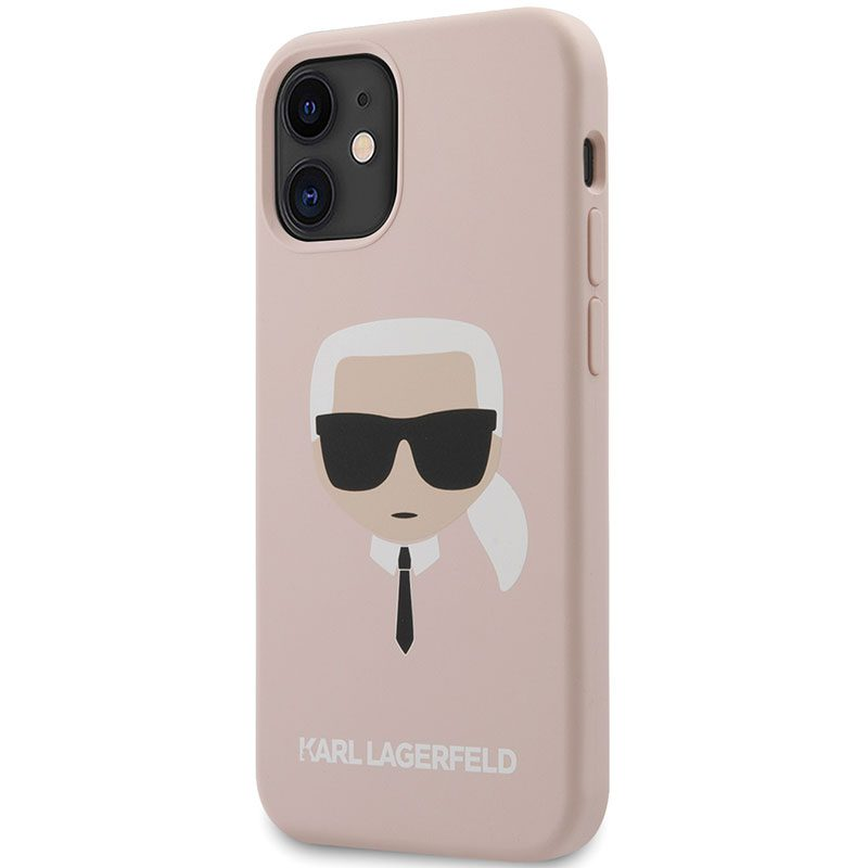 Karl Lagerfeld Silicone Head Light Pink iPhone 12 Mini Tok