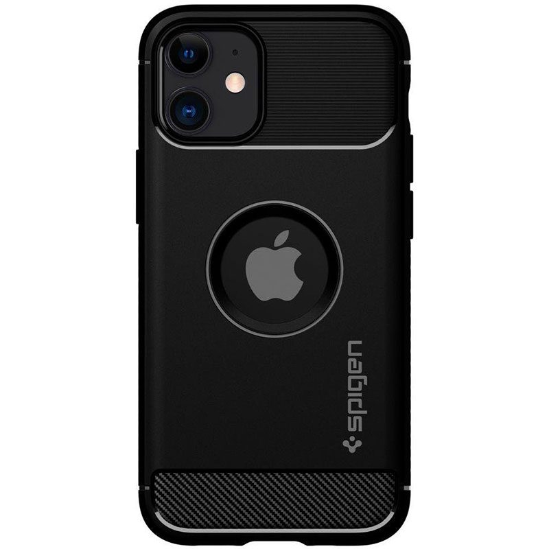 Spigen Rugged Armor Matte Black iPhone 12 Mini Tok