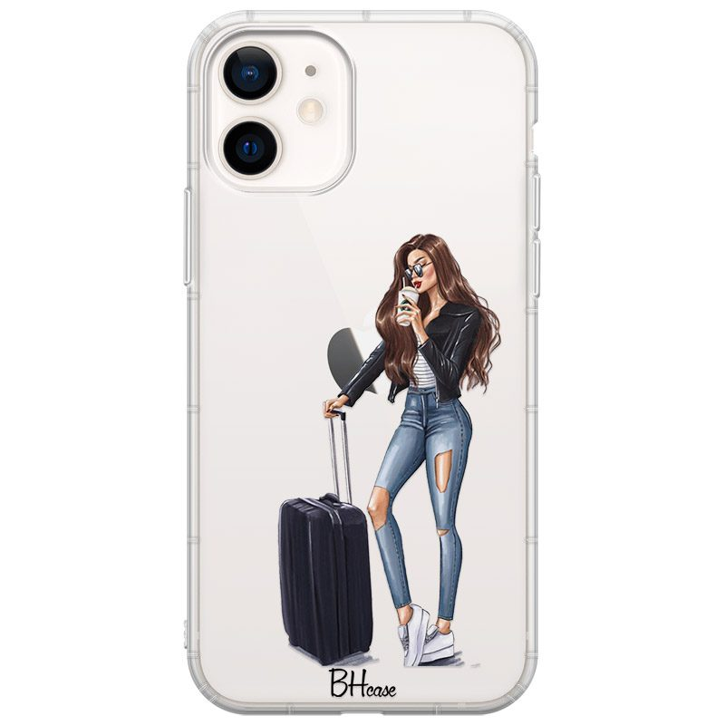 Woman Brunette With Baggage iPhone 12 Mini Tok