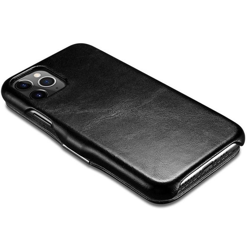 iCarer Vintage Series Side-open Black iPhone 11 Pro Tok