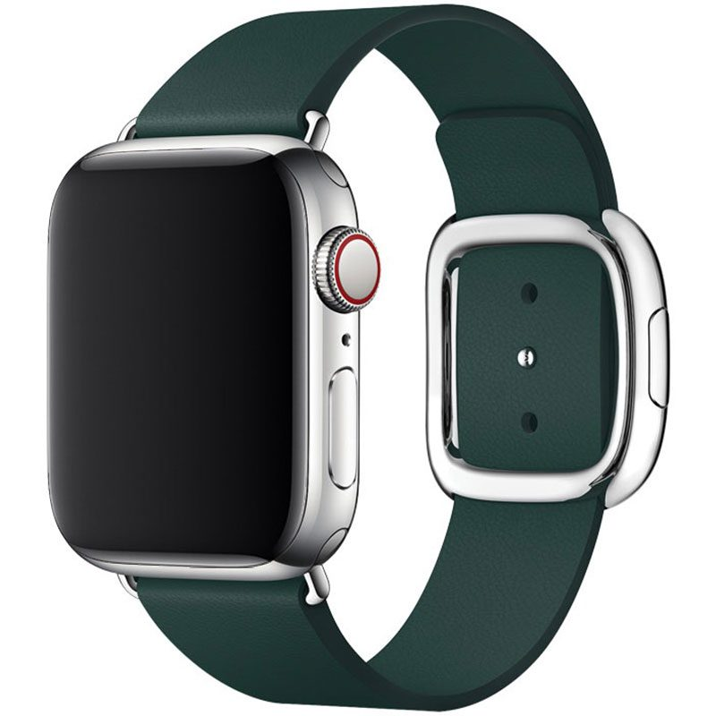 Leather Magnetic Closure Szíj Apple Watch 38/40mm Green