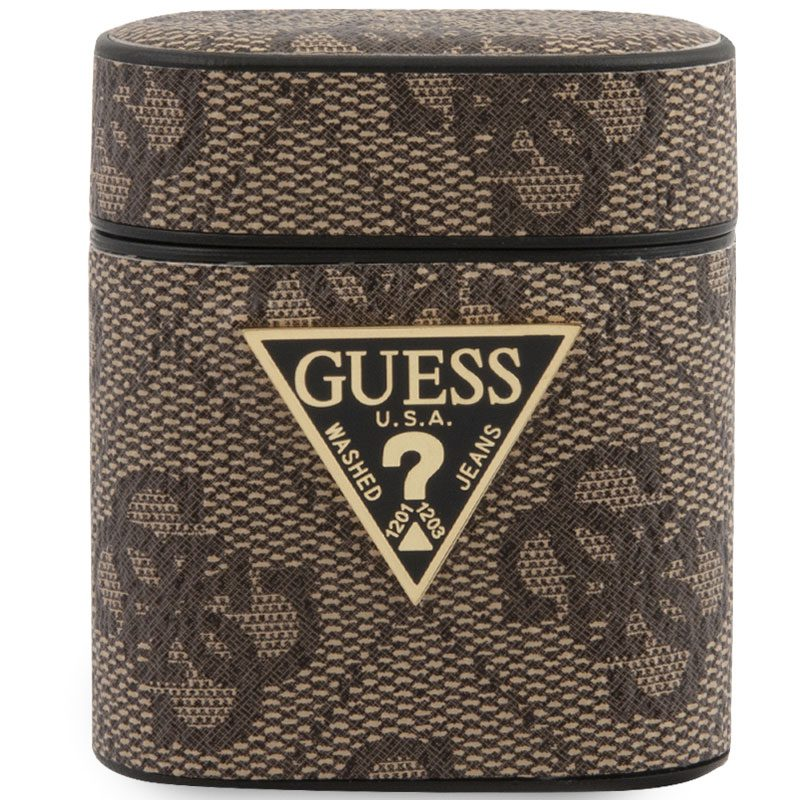 Guess AirPods Case 4G Brown