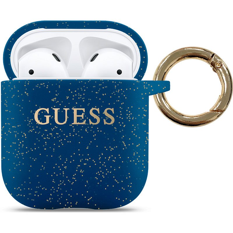 Guess AirPods Silicone Case Blue
