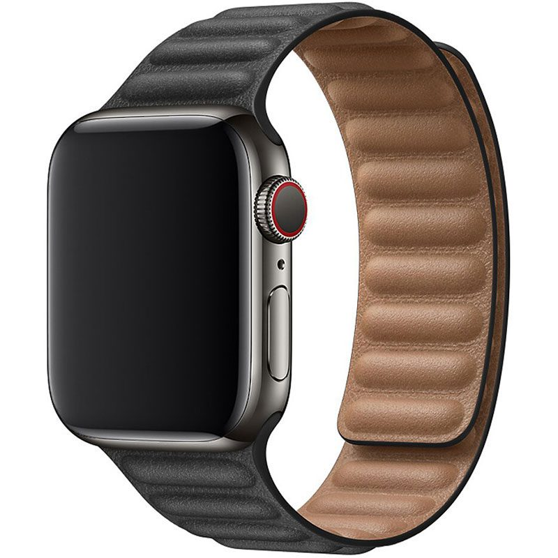 Leather Link Szíj Apple Watch 42/44mm Black
