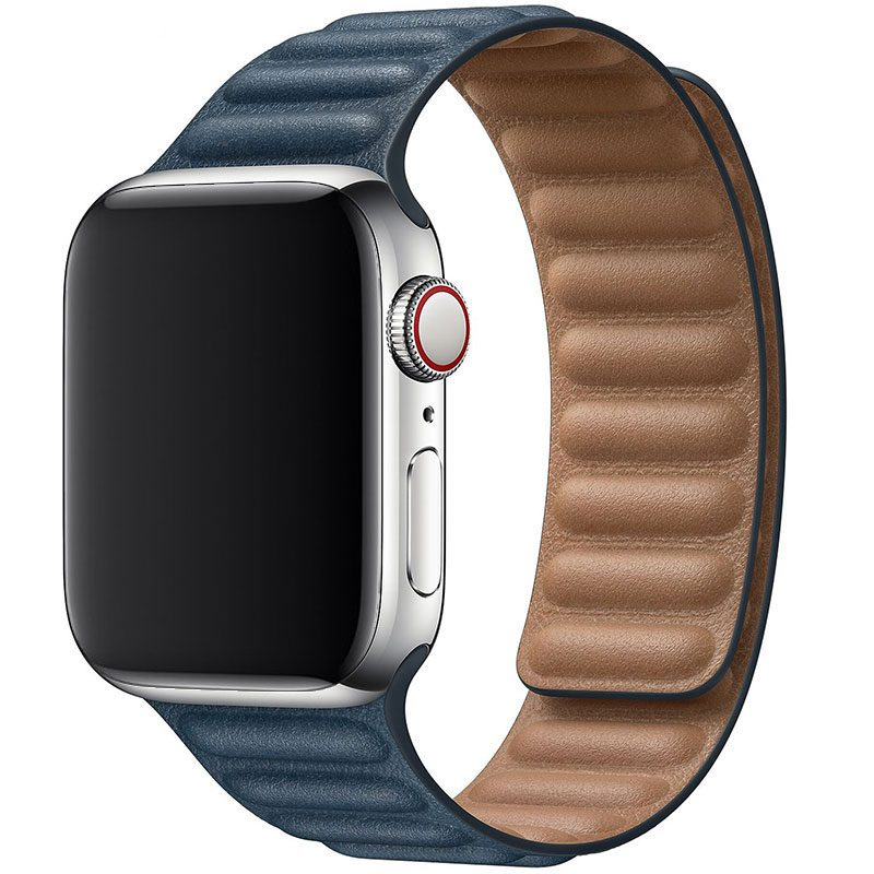 Leather Link Szíj Apple Watch 42/44mm Dark Blue