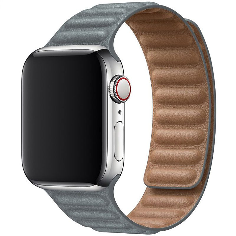Leather Link Szíj Apple Watch 42/44mm Gray