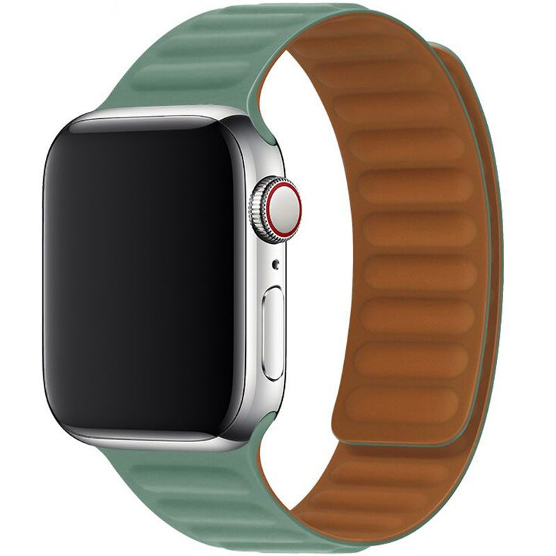 Leather Link Szíj Apple Watch 38/40mm Pacific Green