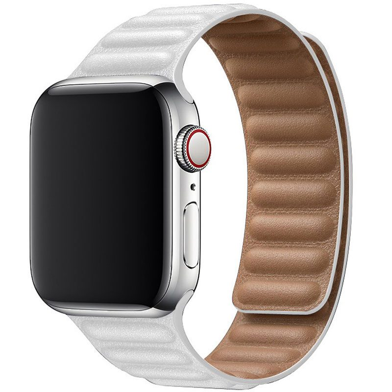 Leather Link Szíj Apple Watch 42/44mm White