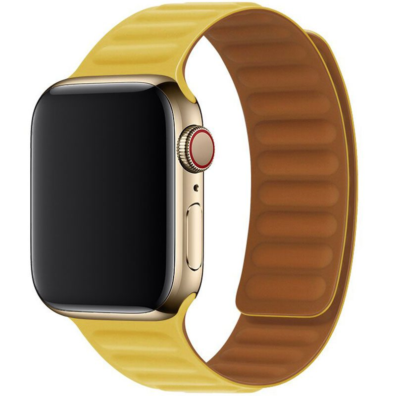 Leather Link Szíj Apple Watch 38/40mm Yellow