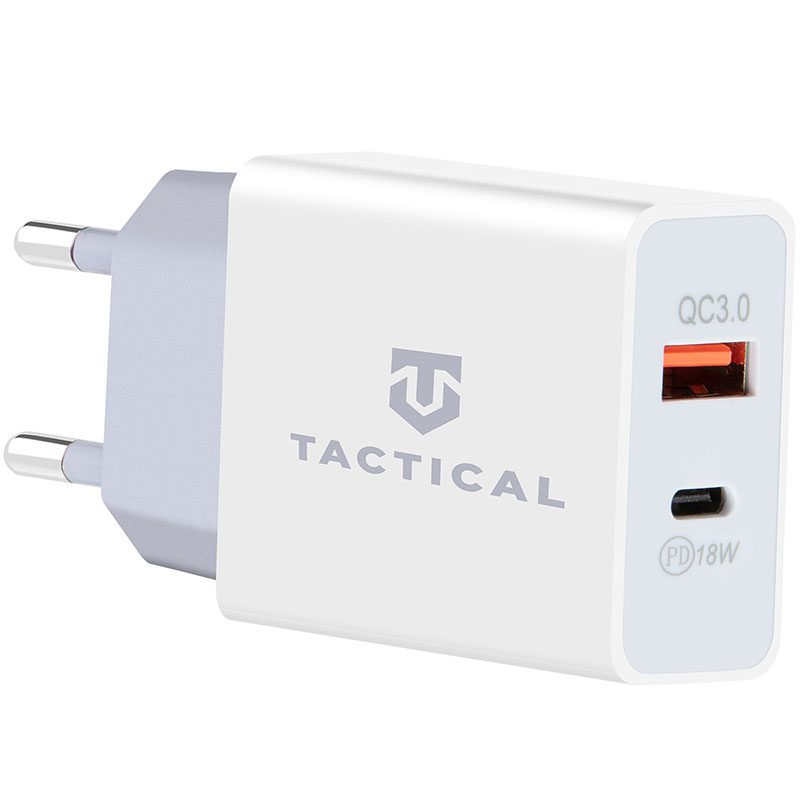 Tactical AR-PD-30W USB-A/USB-C QC 3.0 3.4A Travel Charger White