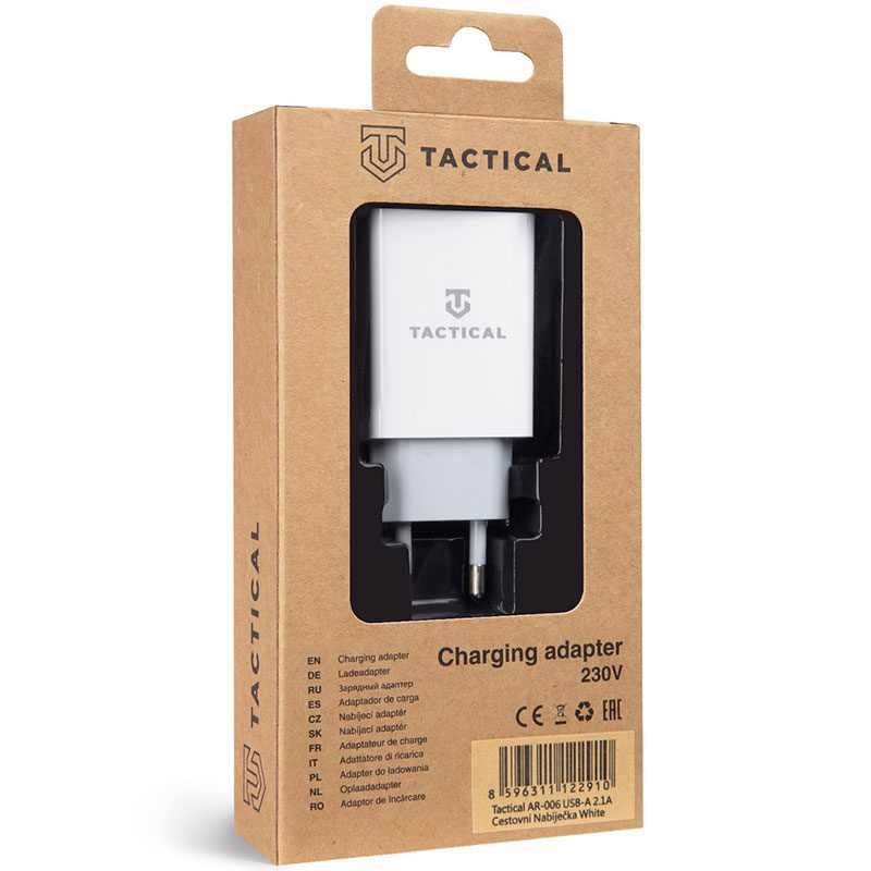 Tactical USB-A 2.1A Travel Charger White